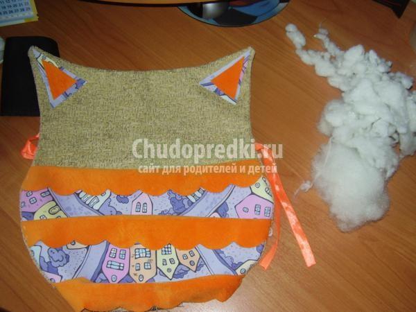 игрушки из ткани своими руками. Совенок