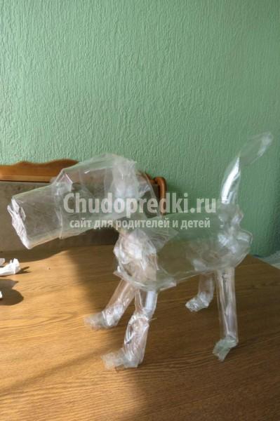 собачка-копилка в технике папье-маше