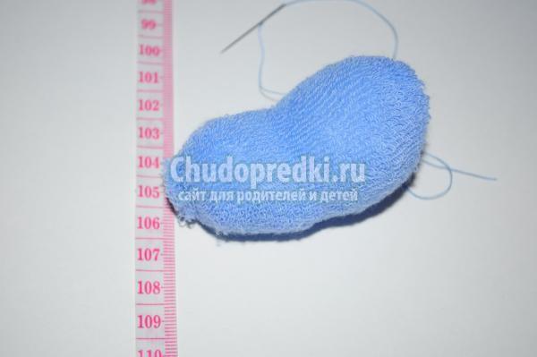 мишка из махрового носка