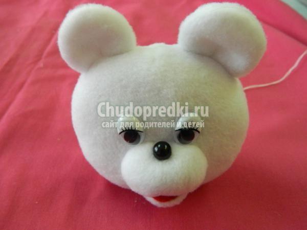 игрушки своими руками. Мишка из флиса