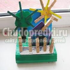 деревенский домик для игры с прищепками