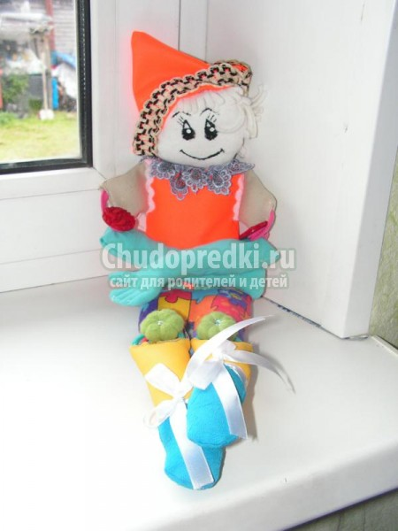 текстильные игрушки своими руками. Клоун-развивашка