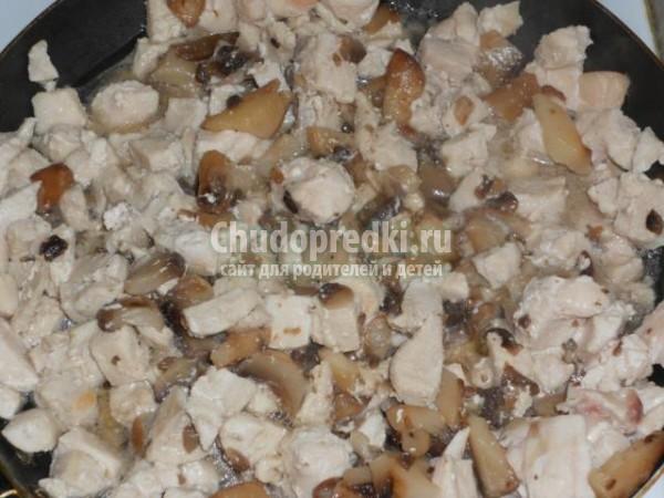 жульен с курицей и грибами