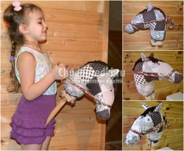 лошадка на палке своими руками к Новому году