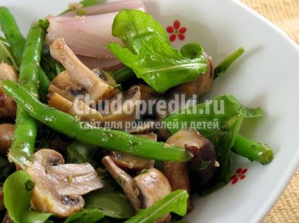 Салаты с грибами на зиму