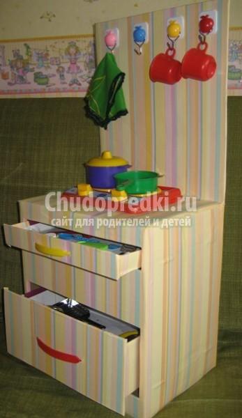 Как сделать домик из коробки