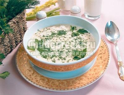 Куриный суп - пюре