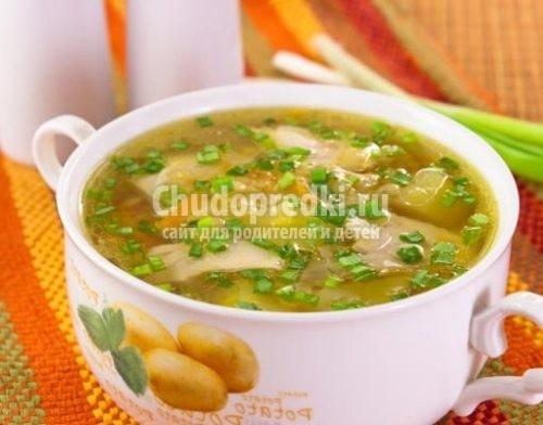 Суп из чечевицы с курицей