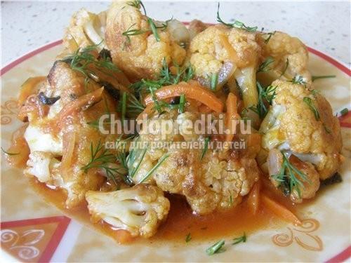 Цветная капуста с сальсой из каперсов и грецких орехов, пошаговый рецепт с фото