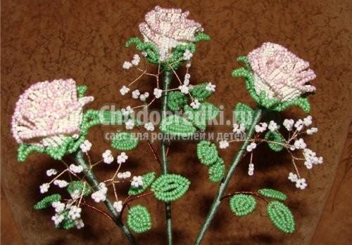 Бисероплетение розы