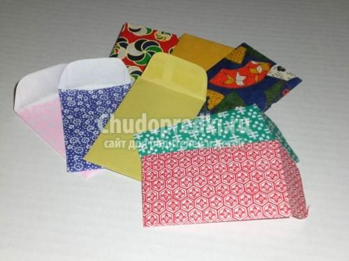 Как сделать конверт из бумаги. Пошаговые мастер-классы