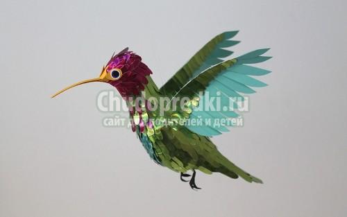 Как сделать из бумаги птицу