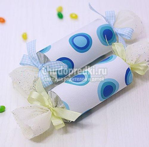 Как сделать конфету из бумаги
