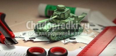 Как сделать из бумаги танк?