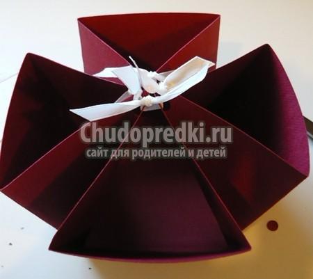 как сделать из бумаги коробку