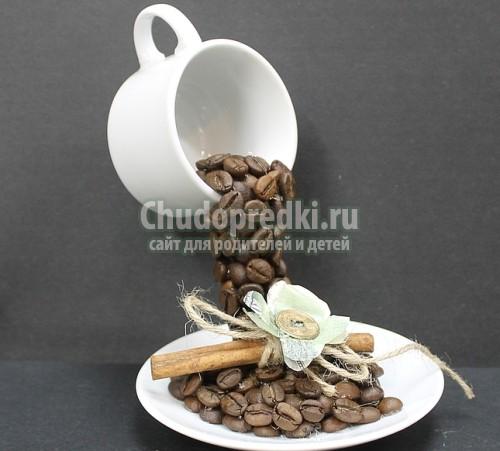 Чашка в воздухе с кофе мастер класс