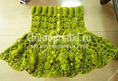 Вяжем юбку для девочки
