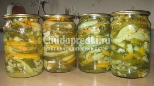 Салат на зиму из огурцов