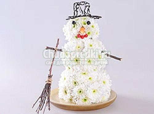 Из чего можно сделать снеговика