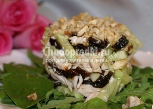 салат слаями с арахисом с фото