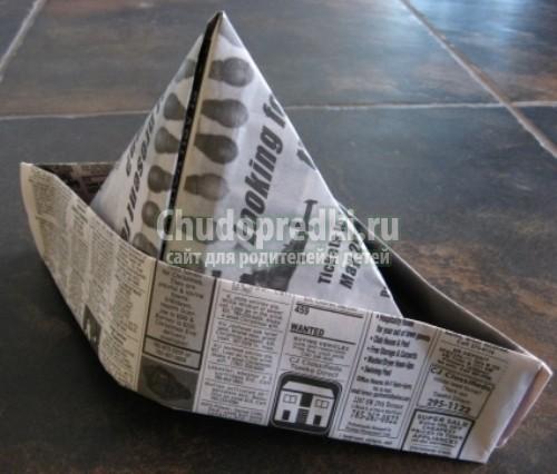 Как из бумаги сделать пилотку