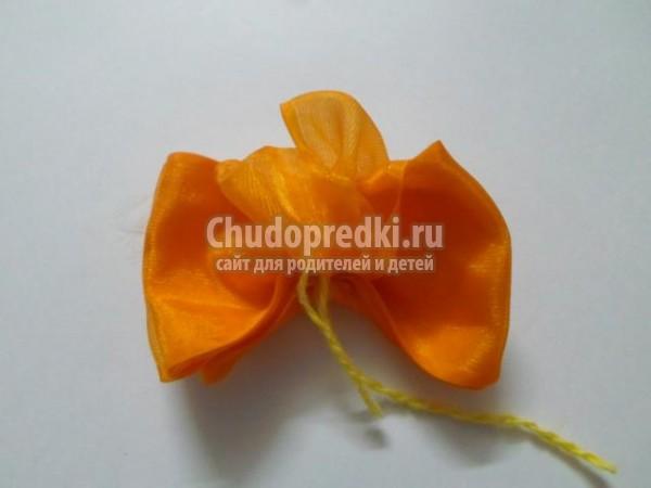 ободок для волос из капроновых лент. Цветочный Хоровод