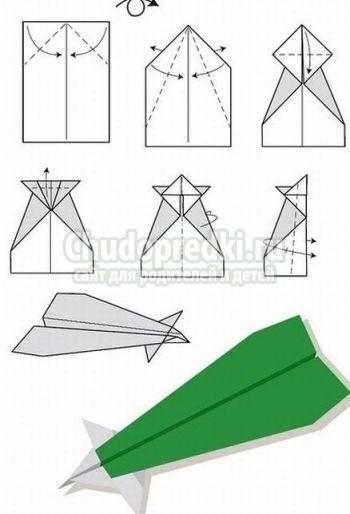 Как сделать истребитель из бумаги