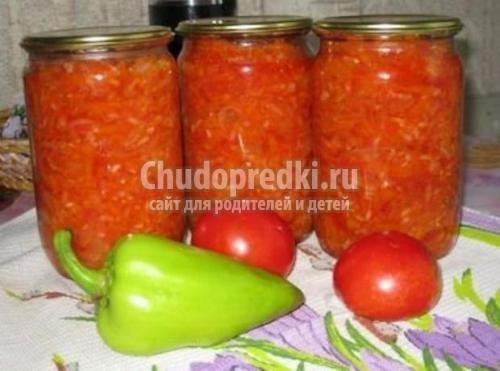 Салат на зиму из перца