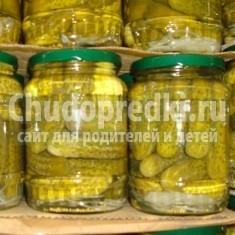 Соленые консервированные огурцы