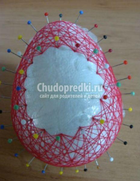 Как сделать яйцо из ниток