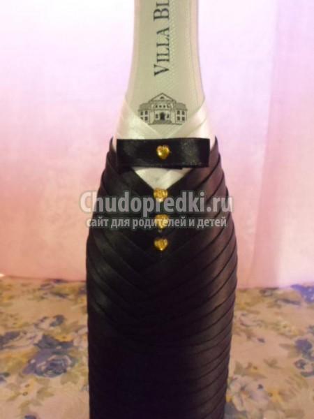 свадебный набор шампанского. Жених и невеста