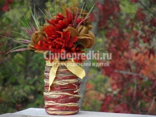 Как сделать самому вазу