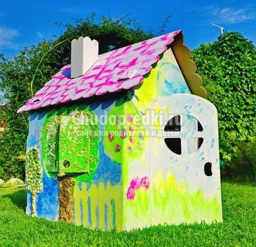 Как сделать домик для детей: пошаговые мастер-классы с фото