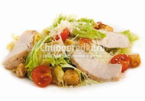 Салат цезарь с курицей классический: лучшие рецепты