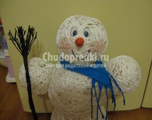 Cнеговик своими руками