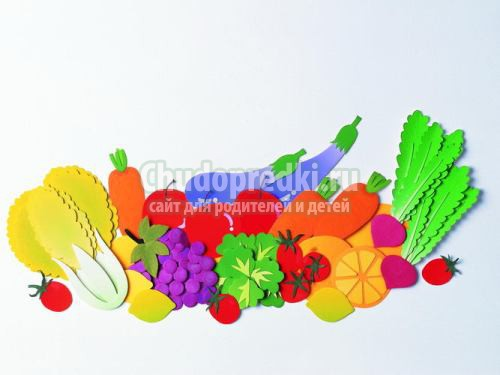 Аппликация овощи