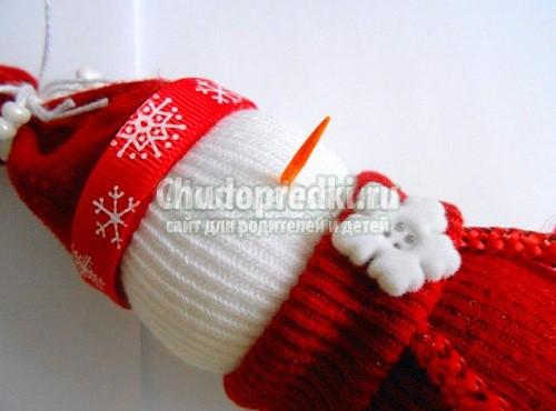 Cнеговик из носков своими руками: популярные мастер-классы с фото