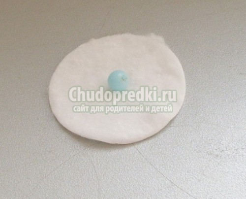 Детские поделки из ватных дисков