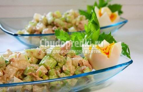 Салаты из сельдерея - вкусно и полезно
