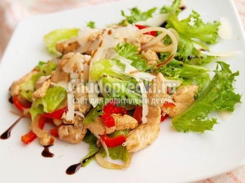 Салаты с куриным филе. Отличные рецепты с фото