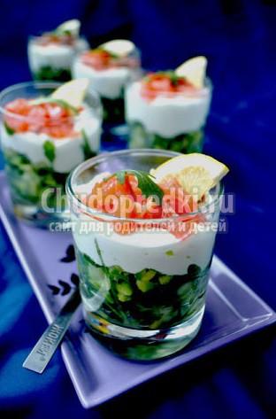 Салат с семгой. Лучшие праздничные рецепты с фото