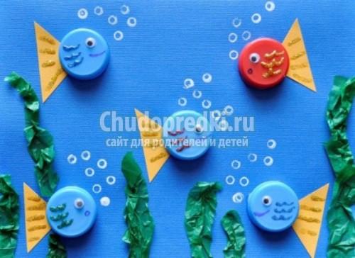 Весенние поделки из пластиковых пробок