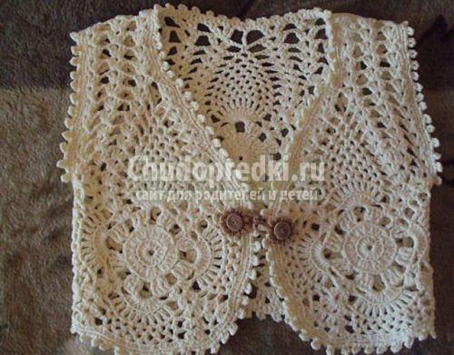 Вязание жилетки
