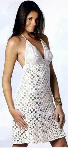 Платье летнее крючком: подробные схемы вязания