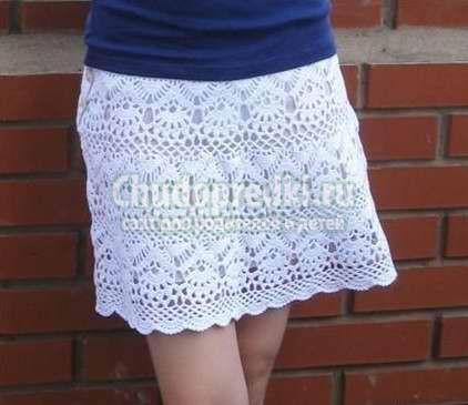 Юбки крючком для женщин: схема и пошаговая инструкция