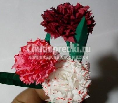 Красивые поделки из салфеток: цветы