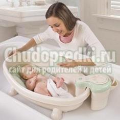 Горки для купания новорожденных. Разновидности и правила выбора