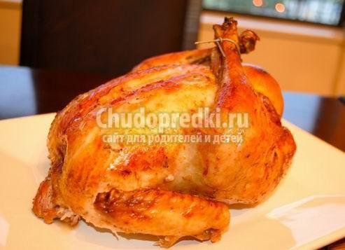 Рецепт курицы в духовке целиком