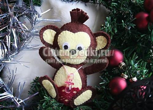 Подарки 2016 своими руками: обезьянка