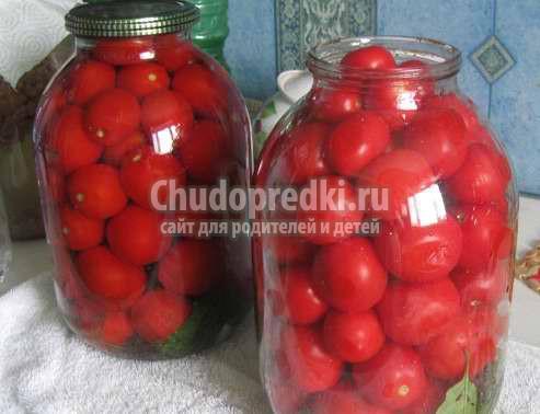Как сделать сладкие помидоры на зиму с чесноком